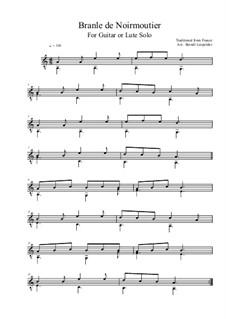 Branle de Noirmoutier (for Guitar or Lute Solo): Branle de Noirmoutier (for Guitar or Lute Solo) by folklore