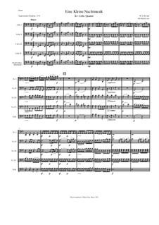 Аллегро: For cello quartet by Вольфганг Амадей Моцарт