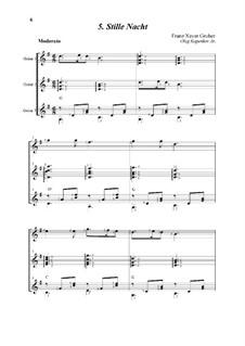 Тихая ночь (ноты для скачивания): For trio guitars by Франц Ксавьер Грубер