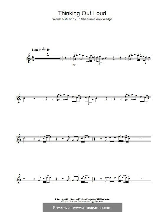 Thinking Out Loud: Для альтового саксофона by Ed Sheeran, Amy Wadge