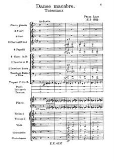 Пляска смерти для оркестра, S.126: Партитура by Франц Лист