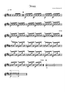 Этюд соль-диез минор для гитары: Этюд соль-диез минор для гитары by Константин Щеницын