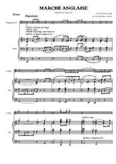 Marche Anglaise for Trumpet and Organ: Marche Anglaise for Trumpet and Organ by Scotson Clark