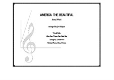 America the Beautiful: For voice and large ensemble by Сэмюэль Августус Уорд