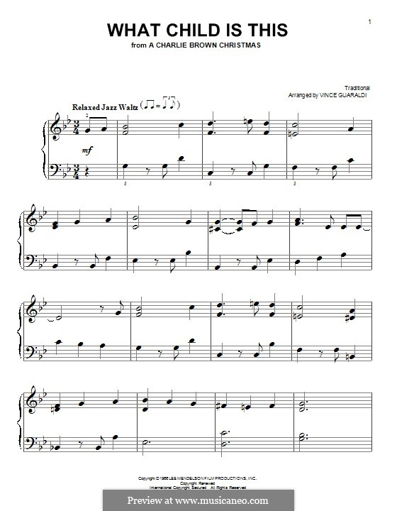 What Child Is This?, for Piano: Для одного исполнителя by folklore