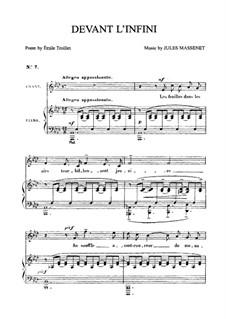 Devant l'infini: Для среднего голоса и фортепиано by Жюль Массне