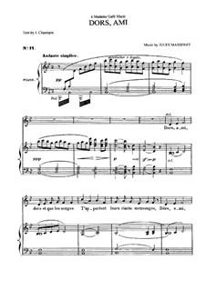 Dors, ami: Для среднего голоса и фортепиано by Жюль Массне