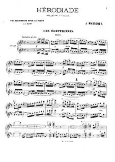 Иродиада: Балет к третьему акту. Переложение для фортепиано в четыре руки by Жюль Массне