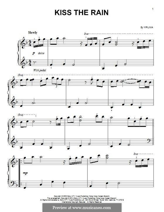 Kiss the Rain: Для фортепиано by Yiruma