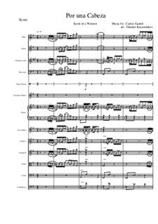 Por Una Cabeza: For symphonic orchestra by Carlos Gardel