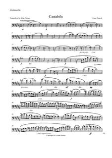 Три пьесы для большого органа: Cantabile, for string quintet – cello part by Сезар Франк