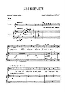 Les enfants: Для среднего голоса и фортепиано by Жюль Массне