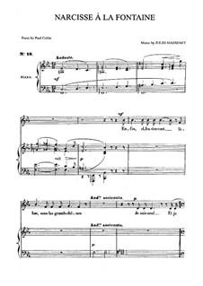 Narcisse à la fontaine: Для среднего голоса и фортепиано by Жюль Массне