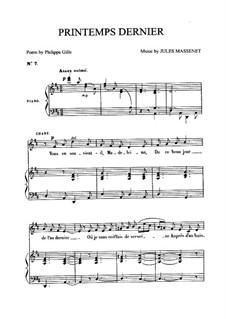 Printemps dernier: Для среднего голоса и фортепиано by Жюль Массне