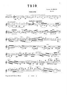 Фортепианное трио до мажор, Op.140: Партия скрипки by Винченцо де Мельо
