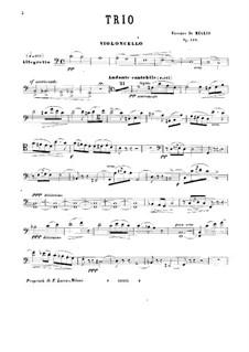 Фортепианное трио до мажор, Op.140: Партия виолончели by Винченцо де Мельо