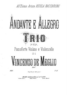Анданте и аллегро, Op.67: Партия скрипки by Винченцо де Мельо