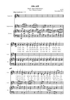 Alles still, Op.39: Alles still by Jürgen Pfaffenberger