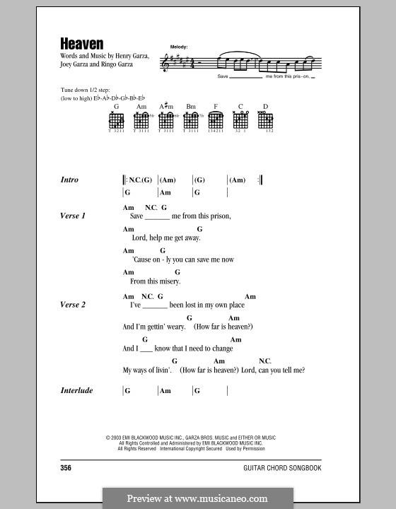 Heaven (Los Lonely Boys): Текст, аккорды by Henry Garza, Joey Garza, Ringo Garza