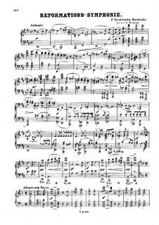 Симфония No.5 ре мажор 'Реформаторская', Op.107: Версия для фортепиано by Феликс Мендельсон-Бартольди