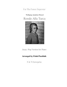 Турецкое рондо: Jazzy version, for piano by Вольфганг Амадей Моцарт