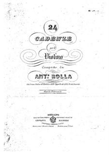 Двадцать четыре каденции для скрипки: Двадцать четыре каденции для скрипки by Антонио Ролла