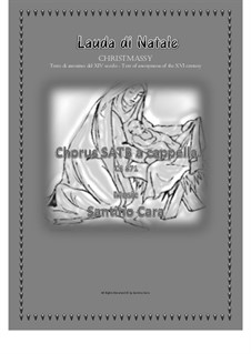 Lauda di Natale - Christmassy for SATB a cappella, CS871: Lauda di Natale - Christmassy for SATB a cappella by Santino Cara