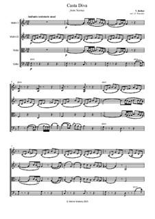 Casta diva, che inargenti: Fot string quartet by Винченцо Беллини