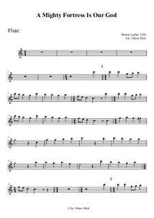 Наш Бог – могучая крепость: Для флейты by Мартин Лютер