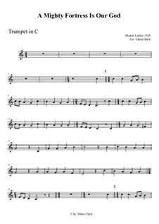 Наш Бог – могучая крепость: For trumpet in C by Мартин Лютер