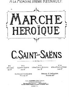 Героический марш, Op.34: Партитура by Камиль Сен-Санс