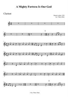 Наш Бог – могучая крепость: Для кларнета by Мартин Лютер