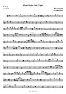 Тихая ночь, дивная ночь, для одного инструмента: For viola (advanced version) by Франц Ксавьер Грубер
