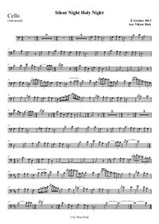 Тихая ночь, дивная ночь, для одного инструмента: For cello (advanced version) by Франц Ксавьер Грубер