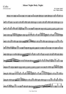 Тихая ночь, дивная ночь, для одного инструмента: For cello (professional version) by Франц Ксавьер Грубер