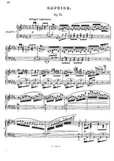 Шесть пьес, Op.51: No.4 Каприс by Антон Рубинштейн