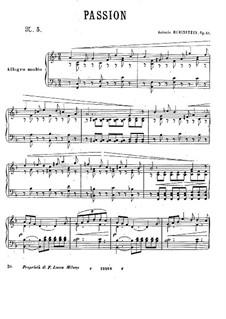 Шесть пьес, Op.51: No.5 Passion by Антон Рубинштейн