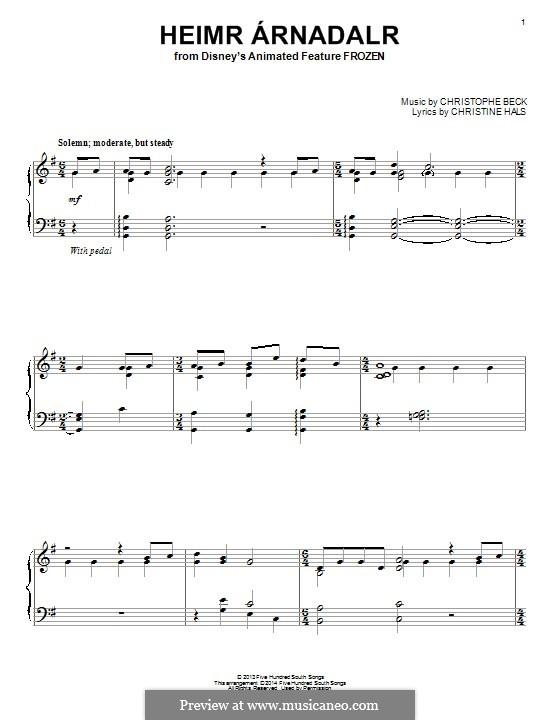 Heimr Arnadalr: Для фортепиано by Christophe Beck