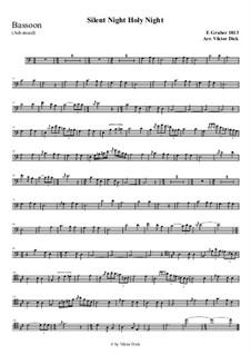 Тихая ночь, дивная ночь, для одного инструмента: For bassoon (advanced version) by Франц Ксавьер Грубер