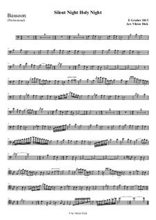 Тихая ночь, дивная ночь, для одного инструмента: For bassoon (professional version) by Франц Ксавьер Грубер
