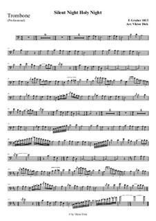 Тихая ночь, дивная ночь, для одного инструмента: For trombone (professional version) by Франц Ксавьер Грубер