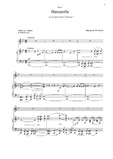 Polyeucte: Barcarolle, for voice and piano by Шарль Гуно