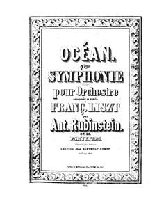 Симфония No.2 до мажор 'Океан', Op.42: Симфония No.2 до мажор 'Океан' by Антон Рубинштейн