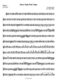 Тихая ночь, дивная ночь, для одного инструмента: For oboe (advanced version) by Франц Ксавьер Грубер