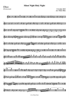 Тихая ночь, дивная ночь, для одного инструмента: For oboe (professional version) by Франц Ксавьер Грубер