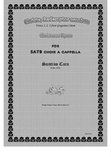 Christe, Redemptor omnium - Christmas hymn for SATB a cappella, CS1070: Christe, Redemptor omnium - Christmas hymn for SATB a cappella by Santino Cara