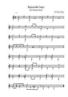 Bajuschki baju: For guitar solo by folklore