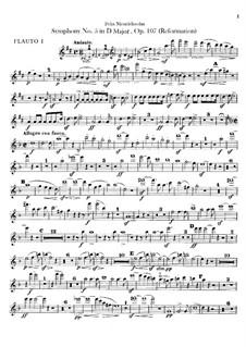 Симфония No.5 ре мажор 'Реформаторская', Op.107: Партии флейт by Феликс Мендельсон-Бартольди