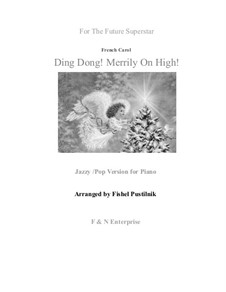 Ding Dong! Merrily on High: For piano, pop arrangement by folklore