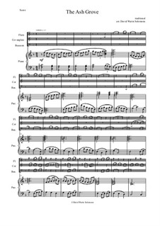 The Ash Grove: For flute, cor anglais, bassoon and piano by folklore